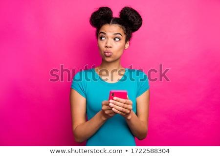 моде брюнетка девушки профиль портрет красивая женщина Сток-фото © restyler