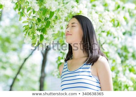 Beautiful Black Woman Smiling Noise Added Stock fotó © wxin