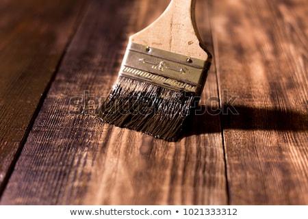 Kolorowy malowany barwiony drewna widoku Zdjęcia stock © ozgur