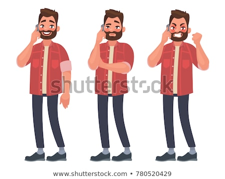 angry man talking on the phone stock photo © deandrobot