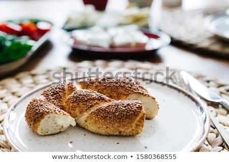 トルコ語 ベーグル パン 写真 ショップ 工場 ストックフォト © Hermione