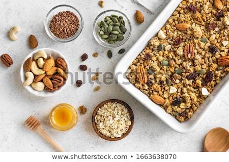 ev · yapımı · granola · sağlıklı · tahıl · fındık · karpuzu - stok fotoğraf © m-studio