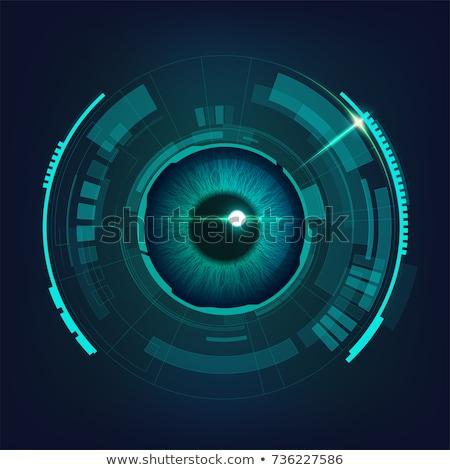 Robotikus szem 3d illusztráció emberi elemek technológia Stock fotó © idesign