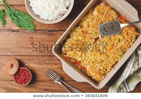 Fırın sazan öğle yemeği sağlıklı Stok fotoğraf © Digifoodstock