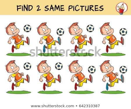 Accoppiamento gioco sport persone illustrazione calcio Foto d'archivio © bluering