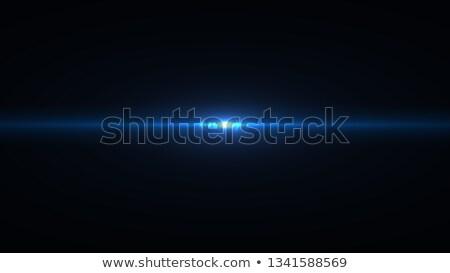Fotoğraf objektif mavi parlama yalıtılmış nesne Stok fotoğraf © kjolak