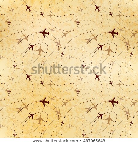 Airline routes, map on old paper, seamless pattern stock photo © Evgeny89