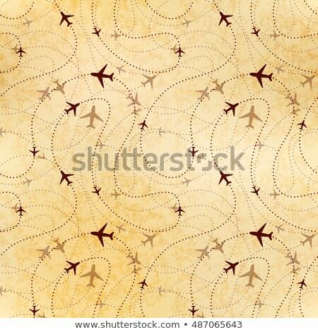 Companhia aérea mapa papel velho velho Foto stock © Evgeny89