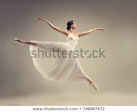 女性 バレリーナ ダンス ジャンプ バレエ スタジオ ストックフォト © deandrobot
