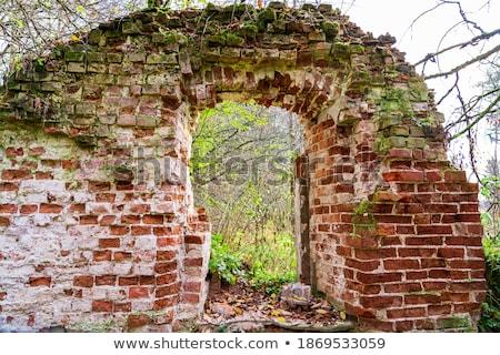 A window near the stonewall Stock photo © bluering