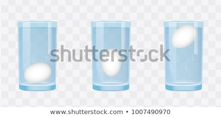 Egg with water drops, vector illustration. Stock photo © kup1984