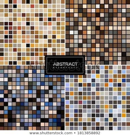 colorful mosaic tiles banners set Stock photo © SArts