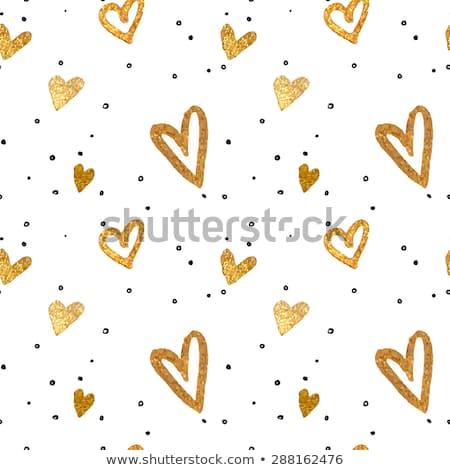 Stock photo: Abstract Heart With Bright Colorful Strokes Pattern