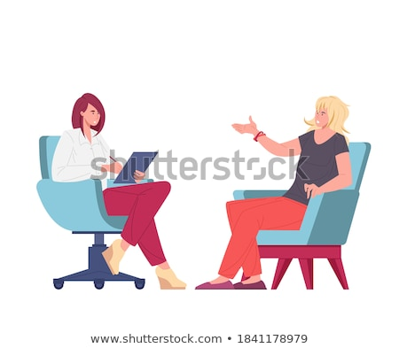 Támogatás pszichológus illusztráció lány gyógyszer tanulás Stock fotó © adrenalina