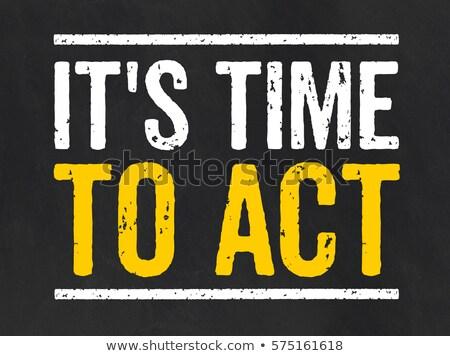 доске текста время Закон черный успех Сток-фото © Zerbor