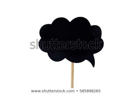 blank signboard in the shape of a fuzzy bubble stock photo © nito