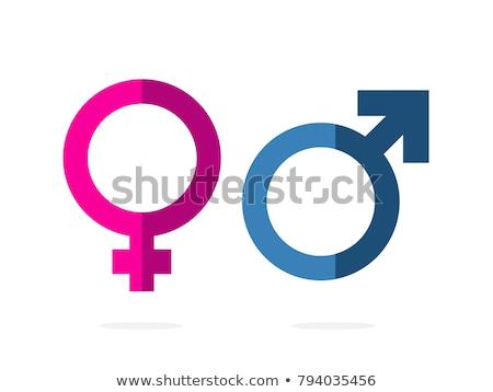 Vrouwelijke geslacht teken icon vector lang Stockfoto © smoki