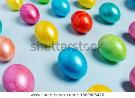 Kreatív rózsaszín kellemes húsvétot átló vonalak húsvét Stock fotó © SArts