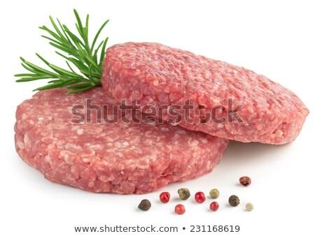 two raw meatballs Stock photo © Digifoodstock