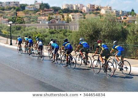 Grup bisikletçi sokak yarış yol şehir Stok fotoğraf © smuki