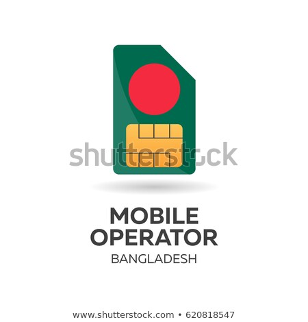Mobiele exploitant kaart vlag abstract ontwerp Stockfoto © Leo_Edition