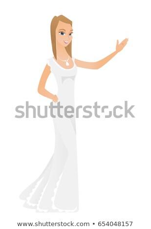 Kaukasisch verloofde tonen richting glimlachend Stockfoto © RAStudio