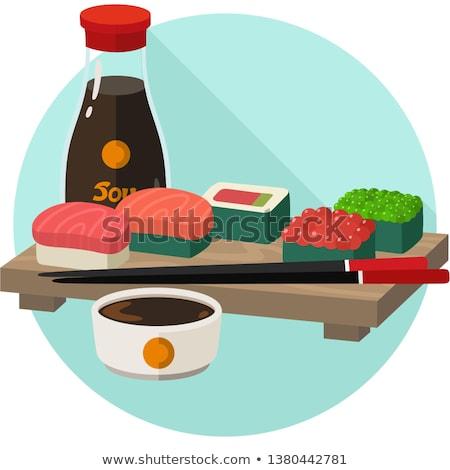 garrafas · ketchup · mostarda · tradicional · comida · vidro - foto stock © robuart