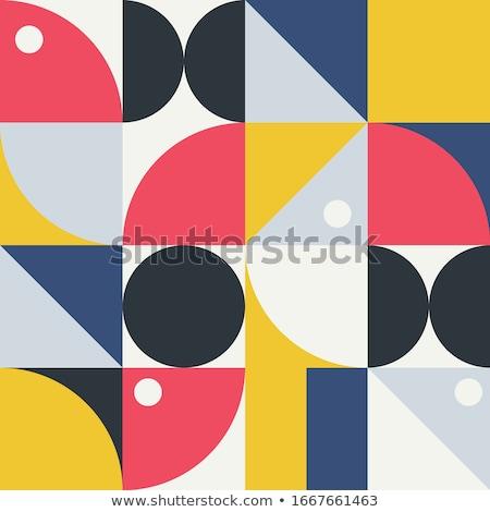 Stok fotoğraf: Renk · geometrik · üçgen · duvar · kağıdı · model · doku