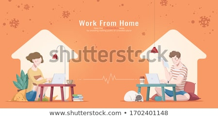 Man and woman cuddling in office Stock photo © IS2