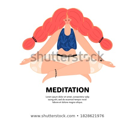 redhead girl with braid isolated illustration stock photo © robuart