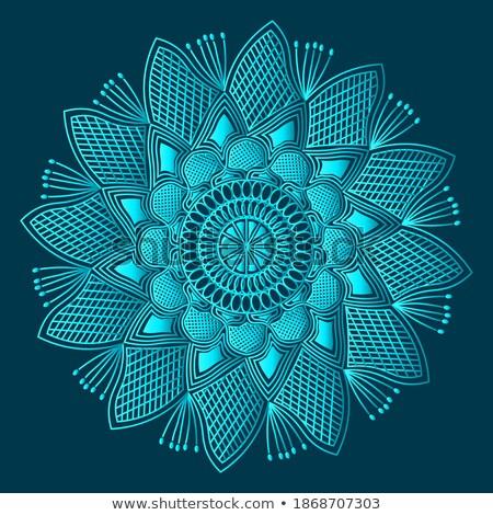 Stijlvol mandala kunst premie ontwerp patroon Stockfoto © SArts