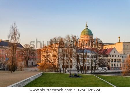 Kathedraal stad kanaal rivier architectuur geschiedenis Stockfoto © IS2