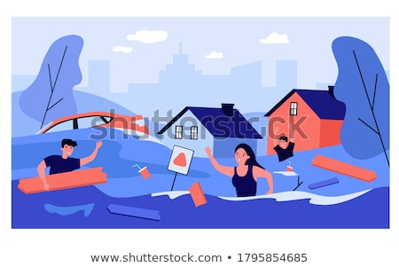 House Drowning In Water Stock photo © AndreyPopov