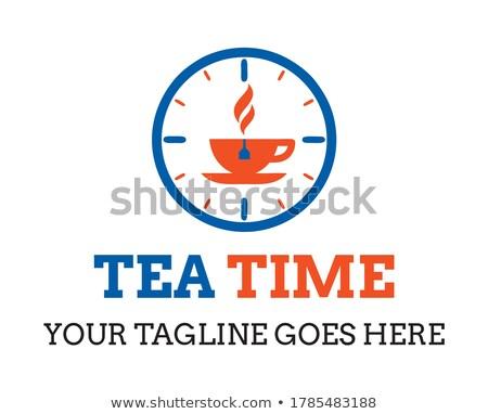 Idő kávéscsésze webes ikon pixeles grafikus szimbólum Stock fotó © tashatuvango