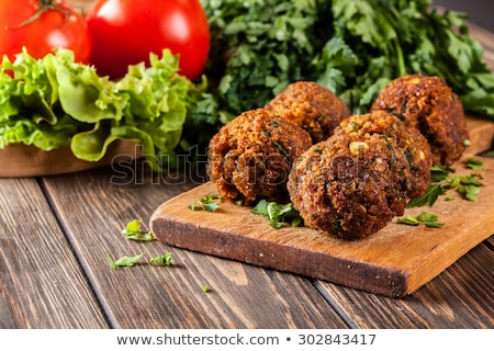 完全菜食主義者の · サンドイッチ · 肉 · 鶏 · トルコ · 豆腐 - ストックフォト © m-studio