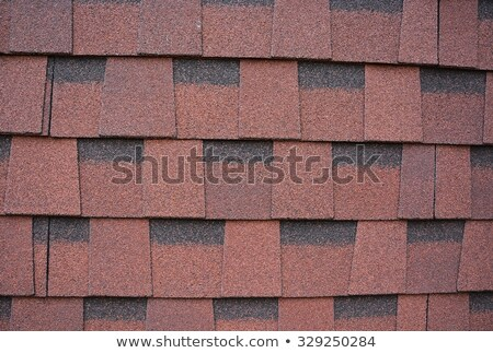 Seamless scale pattern. Abstract roof tiles background. Brown squama texture Stock photo © ESSL