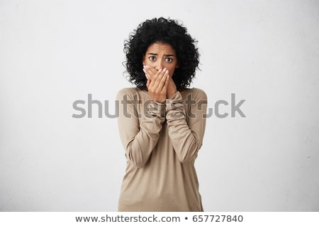 woman scared african american people stock photo © studiostoks