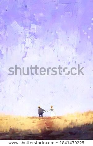 Karikatur Bräutigam Fuß Illustration Anzug Person Stock foto © cthoman