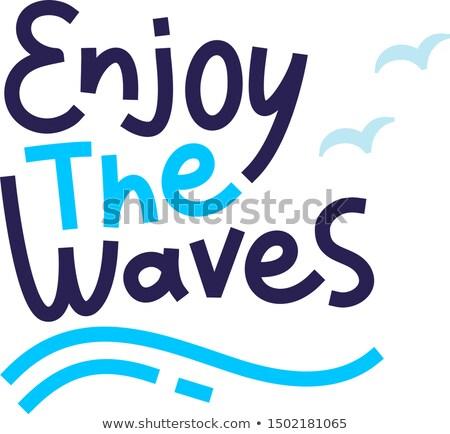 Enjoying In The Waves Stock photo © MilanMarkovic78