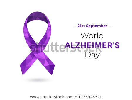 purple ribbon for the world alzheimers day Stock photo © nito