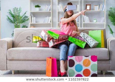 女性 ショッピング バーチャル 現実 眼鏡 幸せ ストックフォト © AndreyPopov