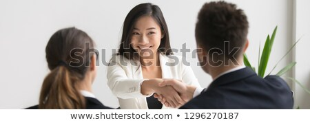 cropped image of an asian businesswoman stock photo © deandrobot