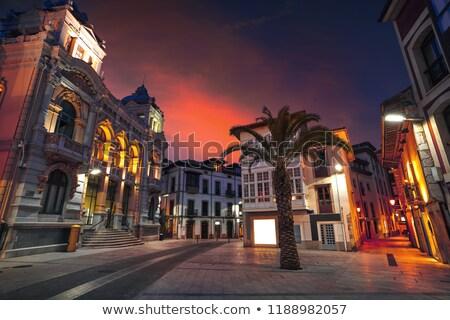 Llanes City town hall sunset in Asturias Spain Stock photo © lunamarina