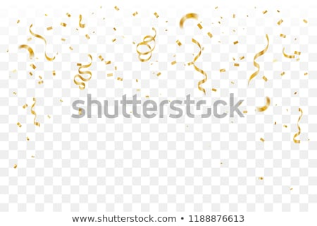 Golden Streamer and Confetti Stock photo © -TAlex-