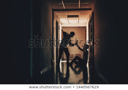 Man with fight expression Stock photo © luissantos84