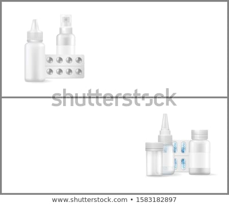 Cartaz médico cápsula cápsulas spray Foto stock © robuart
