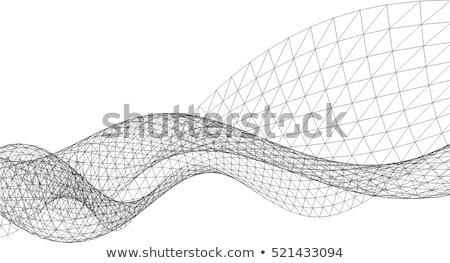 Vector resumen geométrico red construcción diseno Foto stock © fresh_5265954