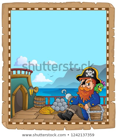 pergamino · pirata · buque · cubierta · papel · arte - foto stock © clairev