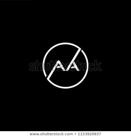 Dupla levél logo logotípus ikon vektor Stock fotó © blaskorizov