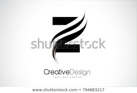 Zwarte icon brief vector ontwerp logo Stockfoto © blaskorizov